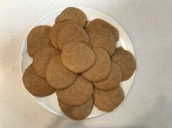 Ginger cookies cooked