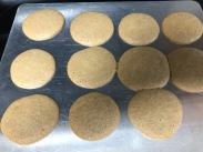 Molasses cookies uncooked